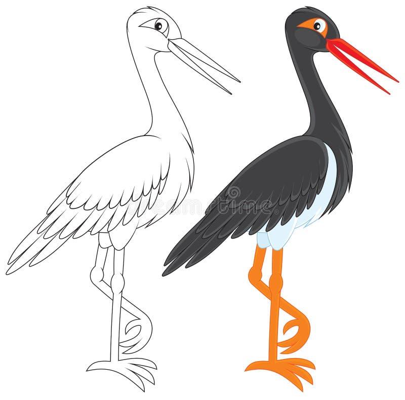 Download Black Stork stock vector. Illustration of nature, clipart - 29217223