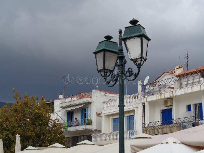 Black storms on the Island of Skiatos, Greece stock photos