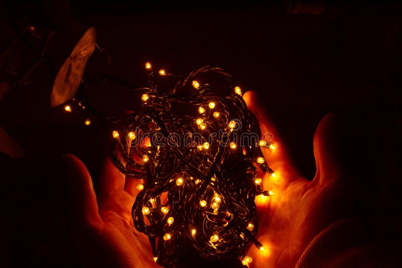 Black String Lights Free Public Domain Cc0 Image