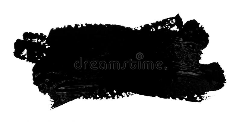 Black strokes of the paint brush isolated royalty free stock photos