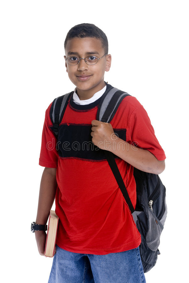 Download Black Student stock photo. Image of isolated, book, school - 6334350