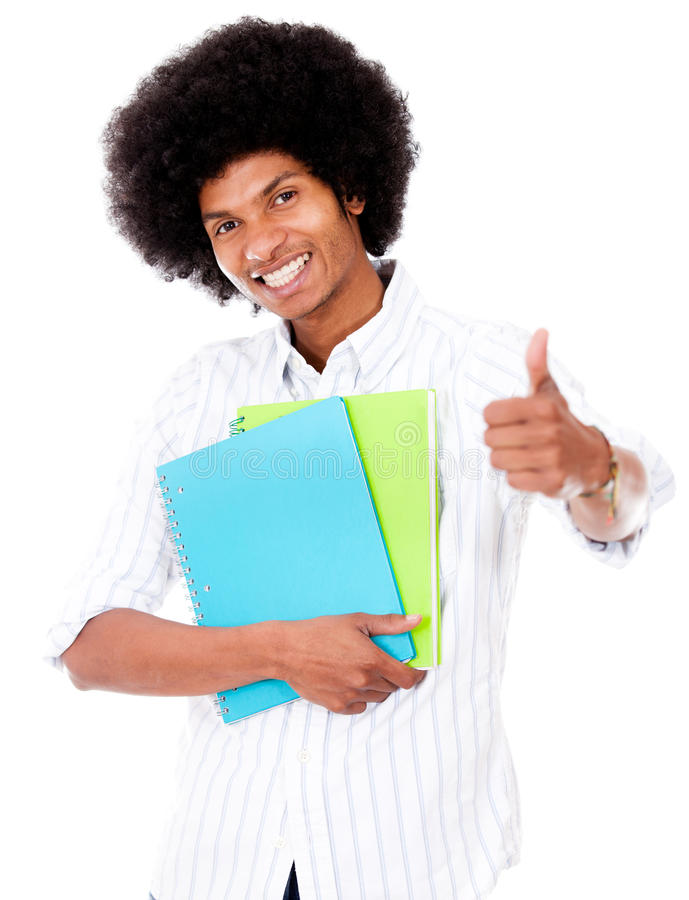 Download Black Student With Thumbs Up Stock Photo - Image: 26453014