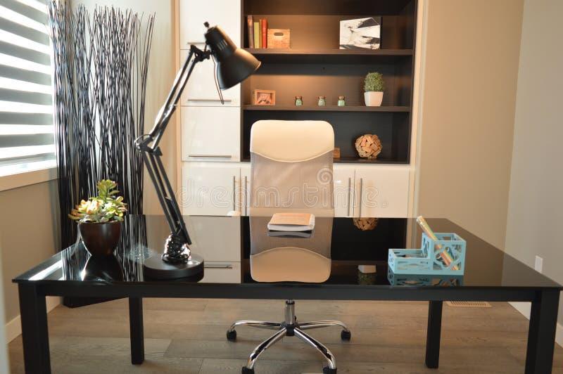 Black Study Lamp on Black Table royalty free stock photo