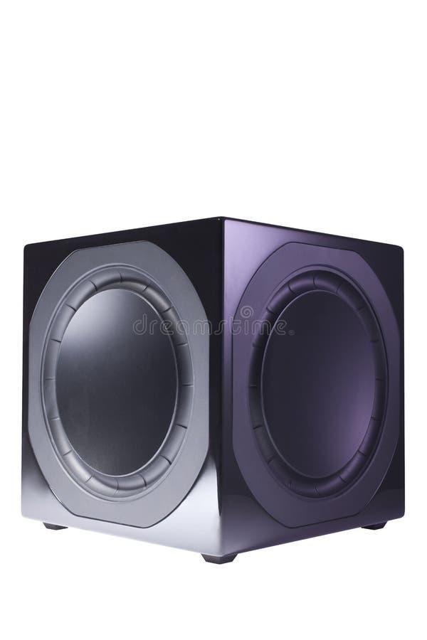 Download Black sub-woofer stock image. Image of music, single - 22299937