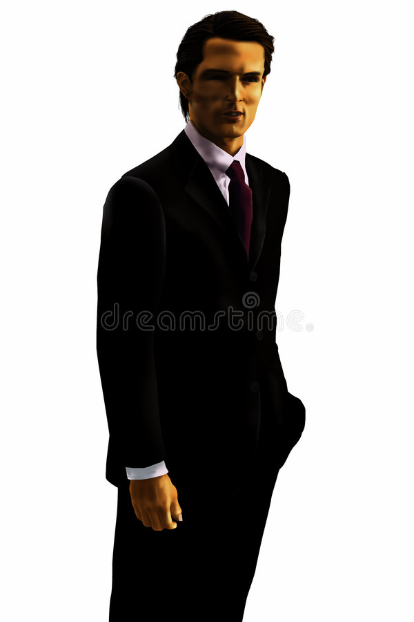 Black suit man royalty free stock image