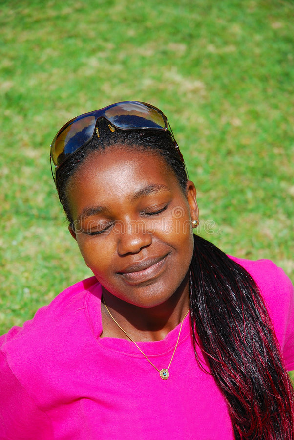 Black summer woman stock image