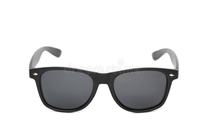 Black sunglasses isolated stock photography
