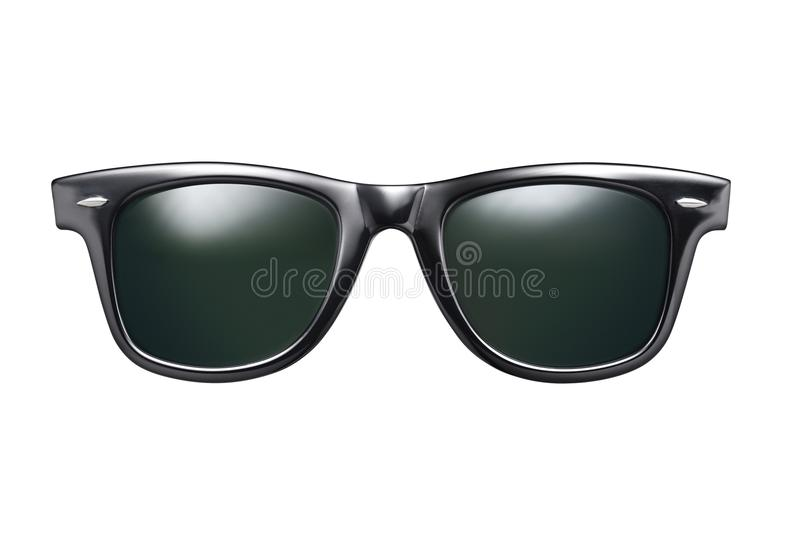 Black sunglasses isolated stock image