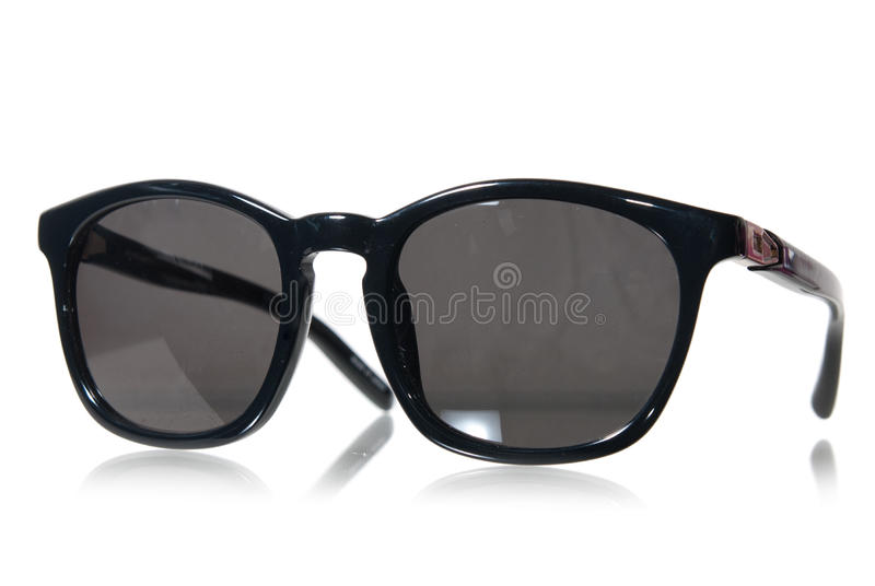 Black sunglasses isolated on white stock image