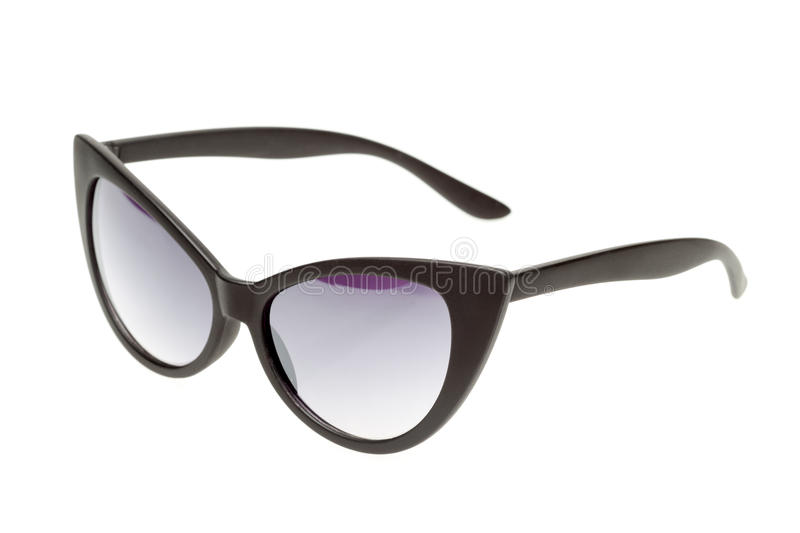 Black sunglasses isolated on white royalty free stock image