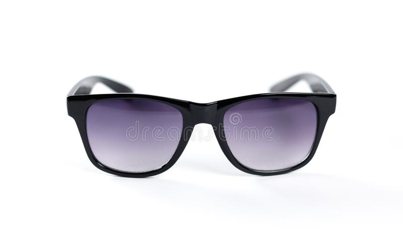 A pair of black sunglasses. Isolated on white background stock images