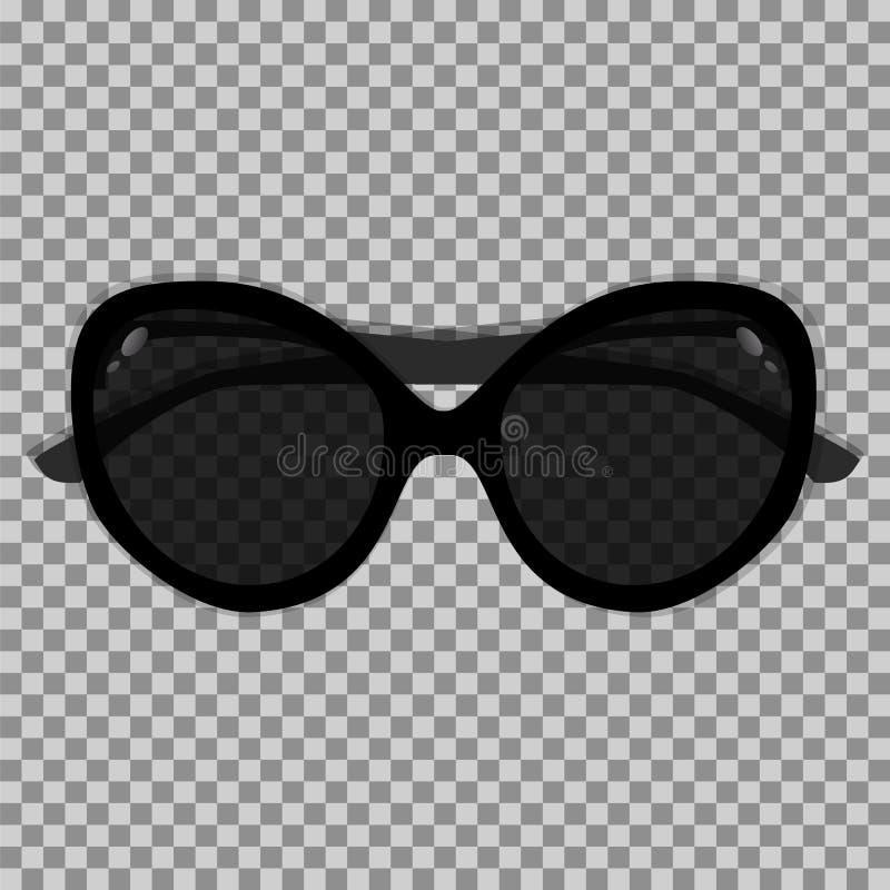 Free Black Sunglasses On A Transparent Background Stock Photos - 95900273