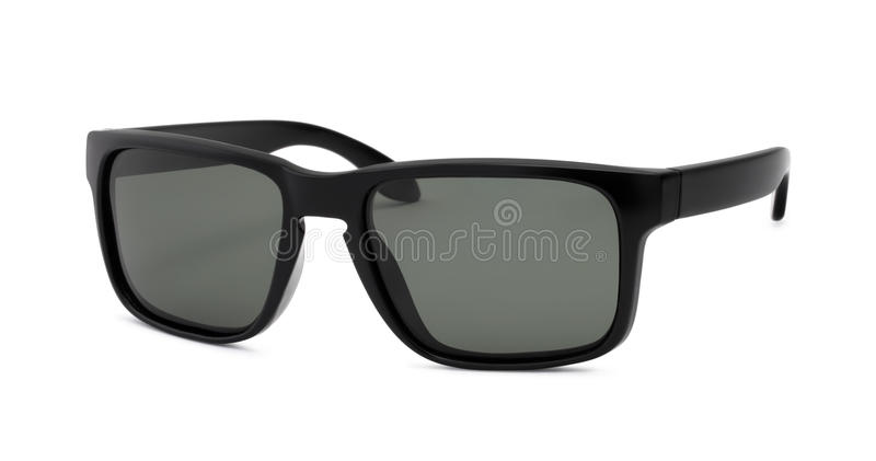 Black Sunglasses on white background stock photo