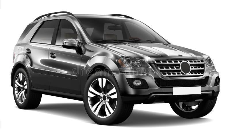 Black SUV vector illustration