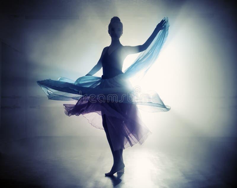 Black swan ballerina royalty free stock photography