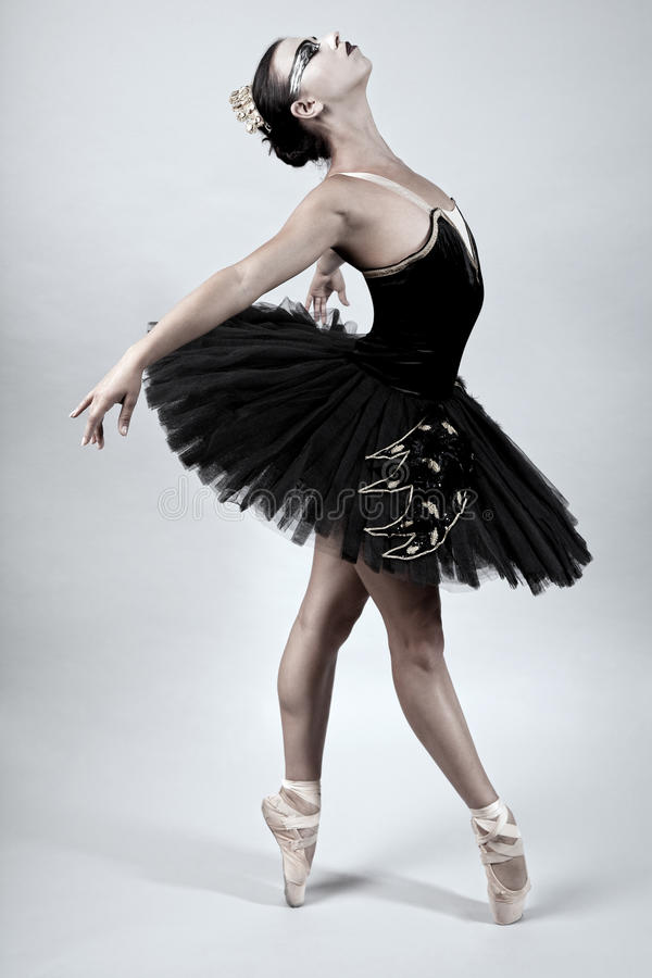 Free Black Swan Ballet Dancer Stock Photography - 21123942