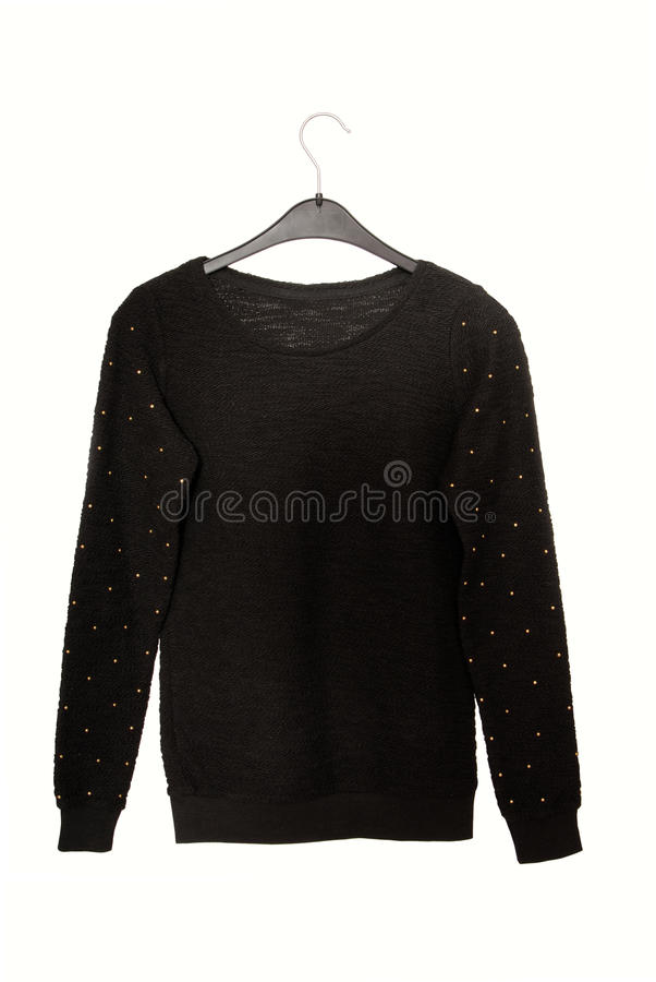 Download Black Sweater With Golden Decor Stock Image - Image: 33218425