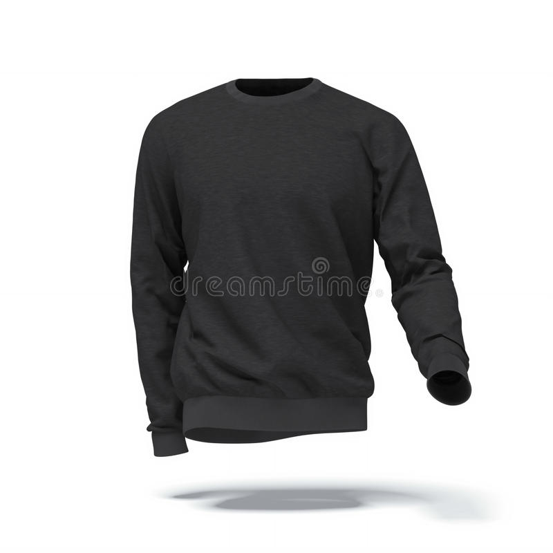 Black sweatshirt royalty free illustration