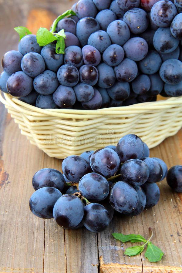 Black sweet grapes