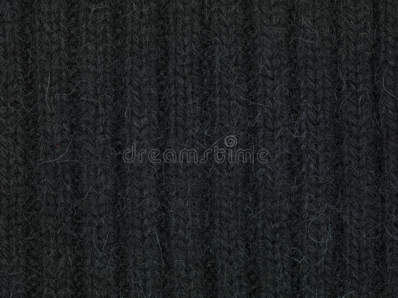 Black sweeter fabric, close up. Black sweeter fabric close up royalty free stock photos