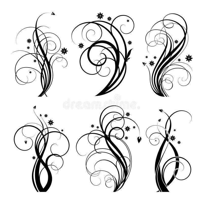 Black_swirl_design ελεύθερη απεικόνιση δικαιώματος
