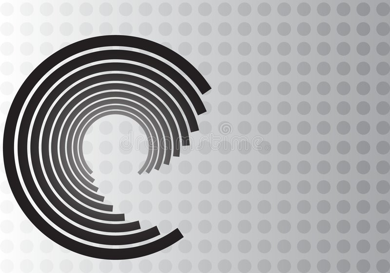 Download Black Swirl Design On Gray Dot Background Stock Images - Image: 4662304