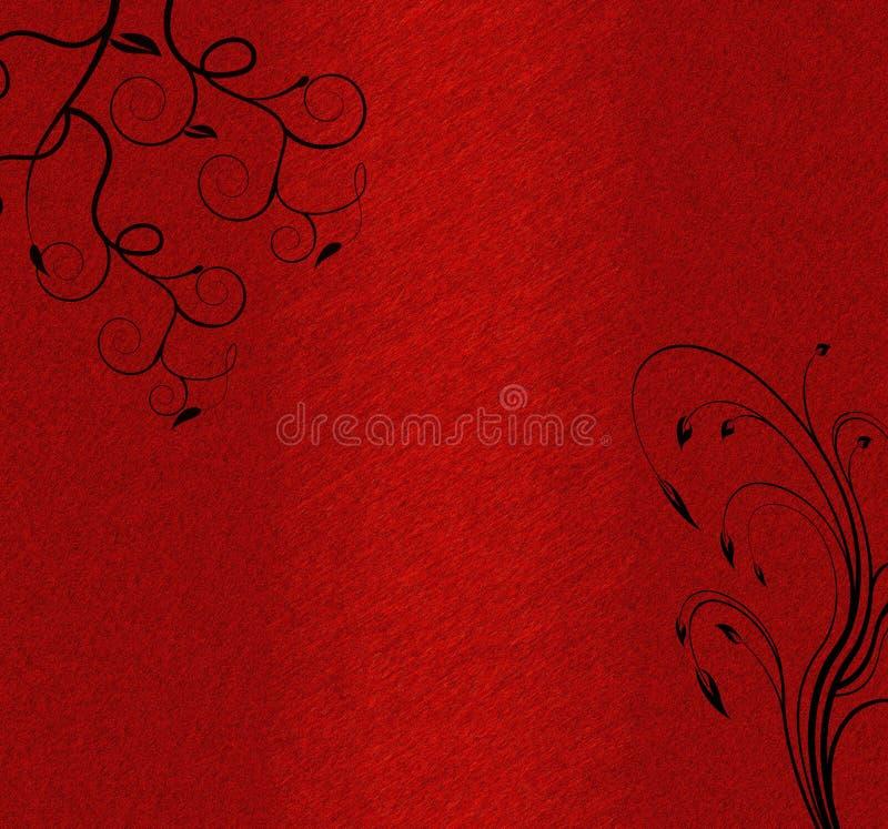 Black swirls dark red background