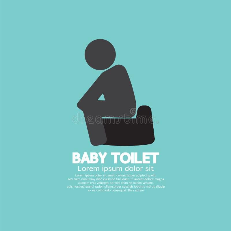 Black Symbol Baby Toilet stock illustration