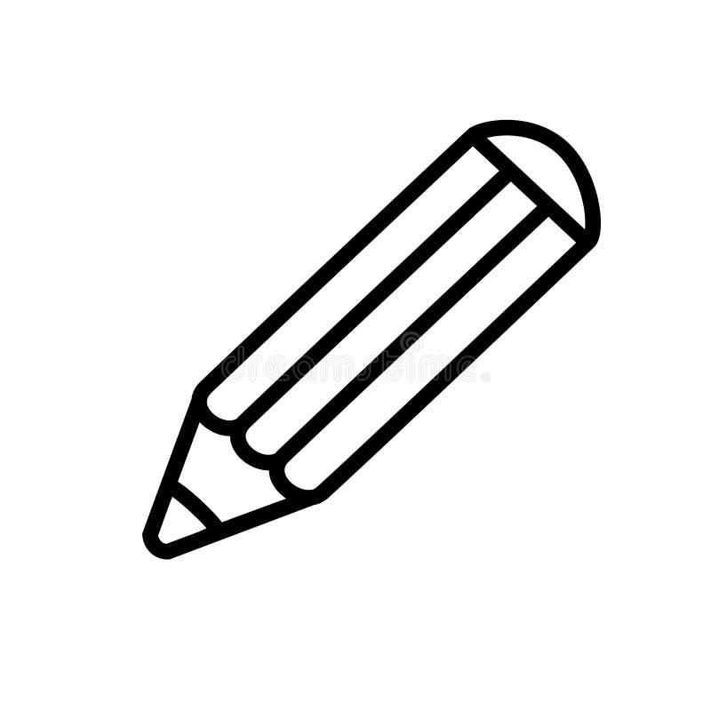 Black symbol of edit. Icon of pencil. Line design. vector illustration
