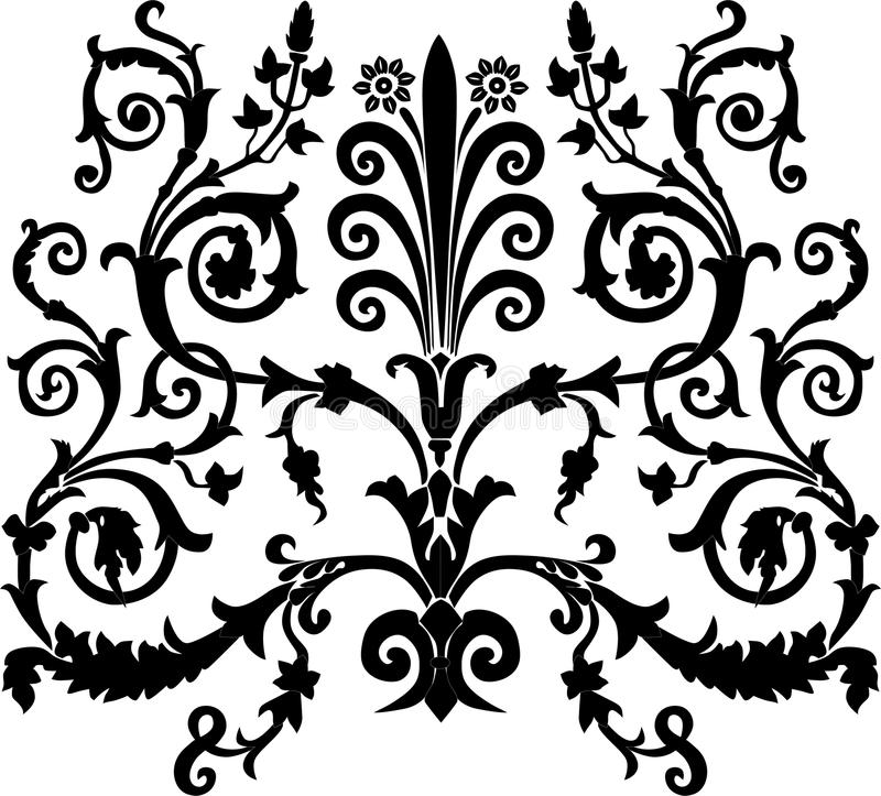 Download Black symmetric curls stock vector. Image of decoration - 11679214