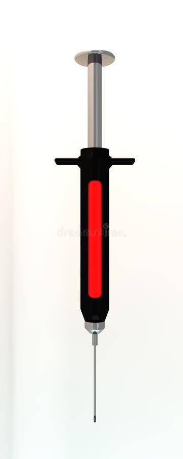 Download Black syringe stock illustration. Illustration of health - 29168303