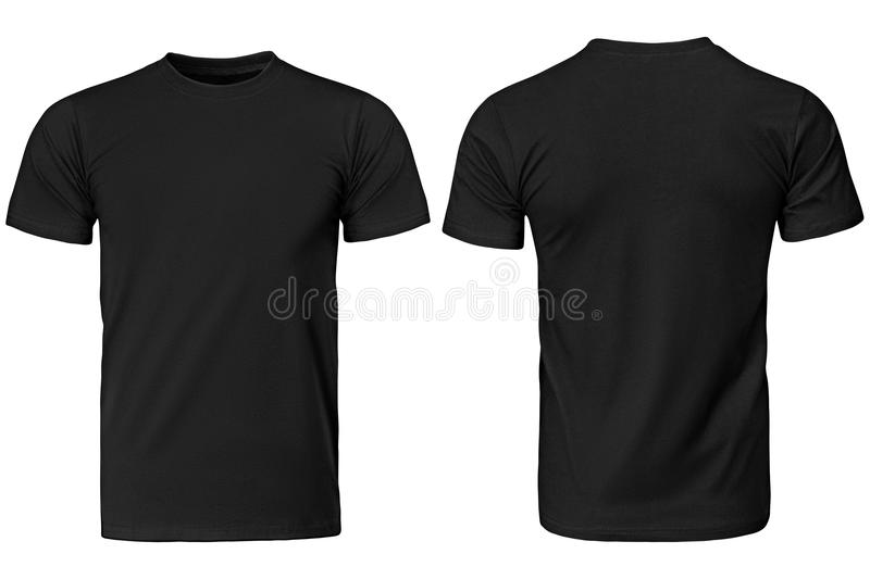 Black t-shirt, clothes royalty free stock photography