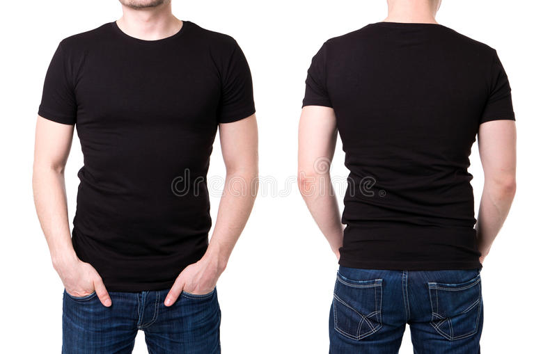 Black T Shirt On A Young Man Template Stock Photo  Image Of Black