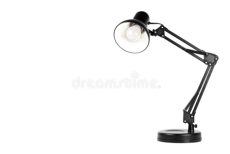 Black table lamp royalty free stock photography