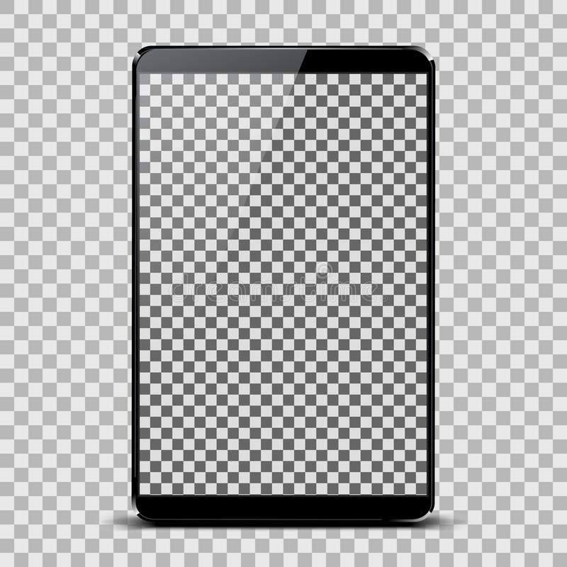 Black tablet with transparent screen - vector royalty free illustration