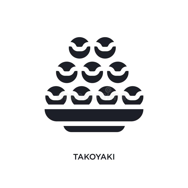 black takoyaki isolated vector icon. simple element illustration from hotel and restaurant concept vector icons. takoyaki editable stock illustration