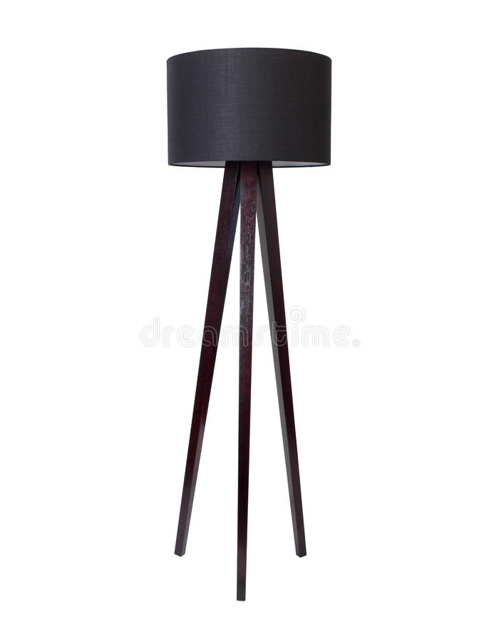 Black Tall Floor Lamp royalty free stock images