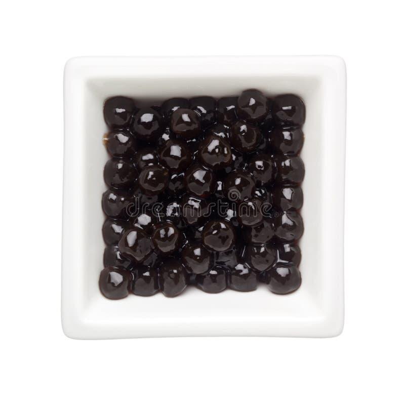 Black tapioca pearls royalty free stock images