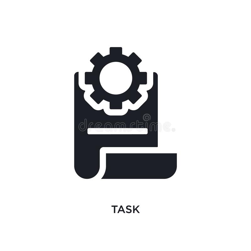 Black task isolated vector icon. simple element illustration from industry concept vector icons. task editable logo symbol design. On white background. can be vector illustration