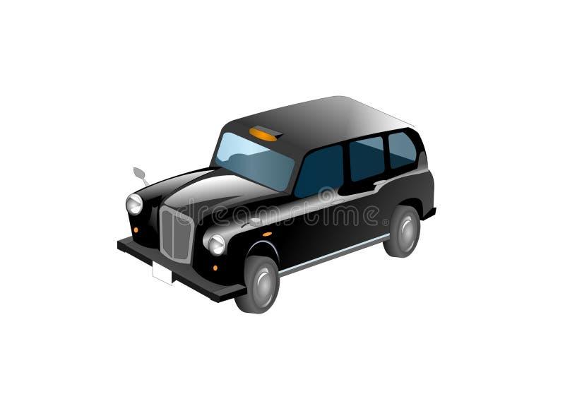 Black Taxi Cab Illustration stock illustration