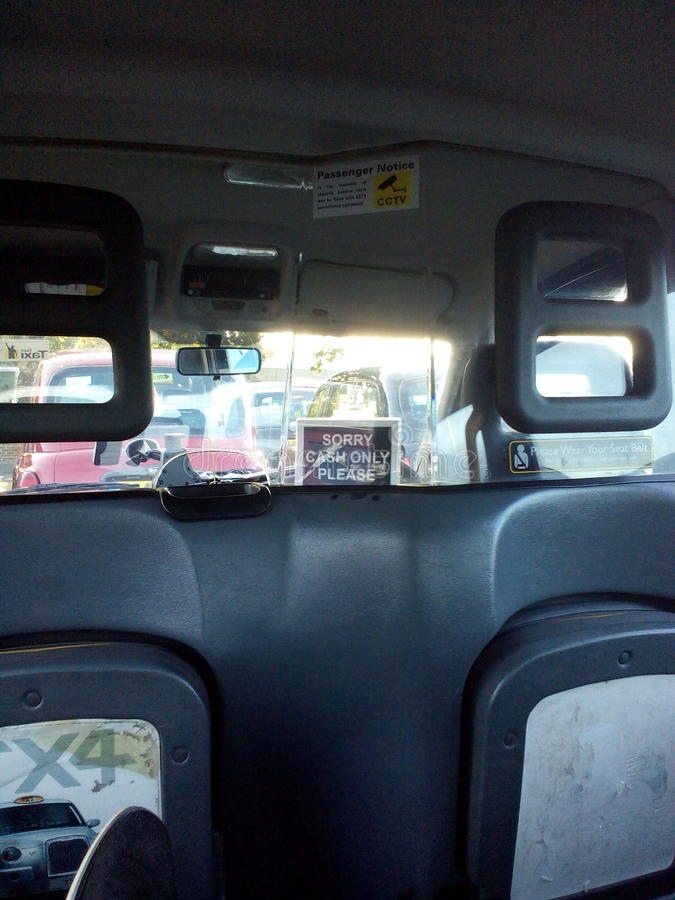 Black taxi London royalty free stock photos