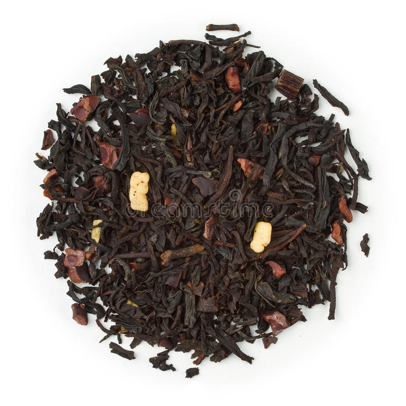 Black tea chocolate stock image