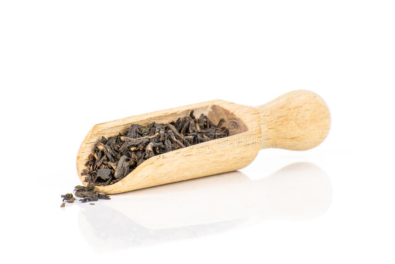 Black tea earl grey isolated on white royalty free stock photo