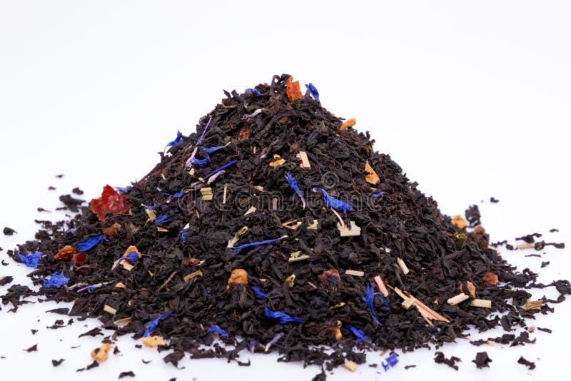 Black tea isolated on a white background.  royalty free stock photos