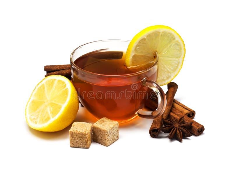 Download Black Tea With Lemon And Cinnamon Stock Image - Image: 20017187