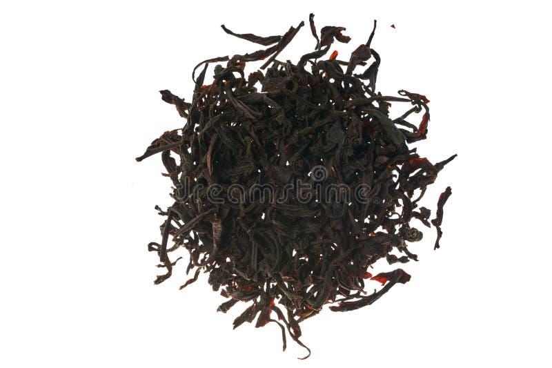 Black tea is sprinkled around stock photo
