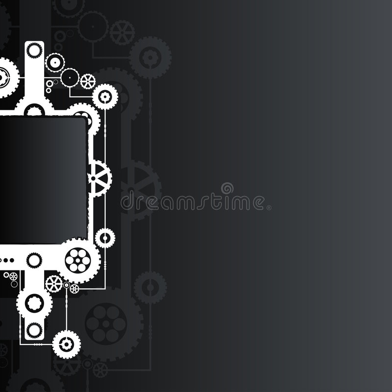 Black technological background stock illustration