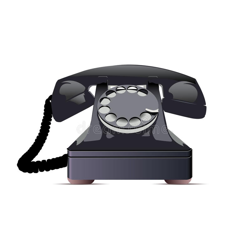 Free Black Telephone. Stock Image - 25075941