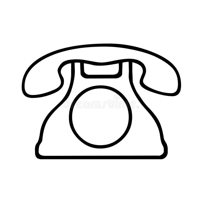Black Telephone symbol for banner, general design print and websites. Illustration vector stock illustration