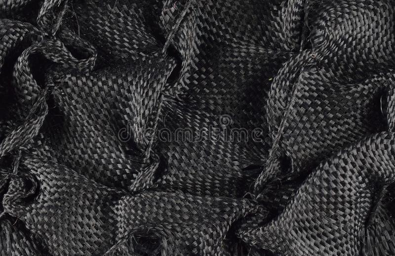 Black texture background of cloth fabric detail close up stock photos